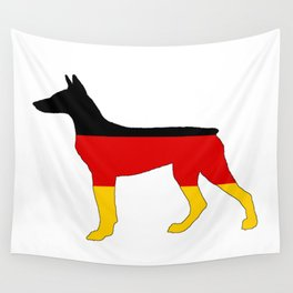 German Flag - Dobermann Pinscher Wall Tapestry