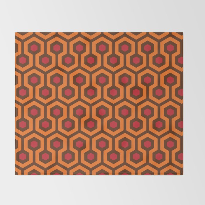 The Overlook Hotel Carpet Throw Blanket