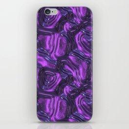 Purple Liquid Plastic Surface iPhone Skin