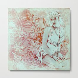 Winter Hotty Metal Print