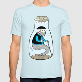 A Merman In Captivity Passing Gas In A Bottle  T-shirt