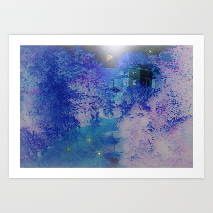 River Series Two. Frosty River Illusion. Art Print