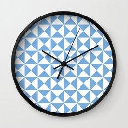 Jordy Blue Triangles | Beautiful Interior Design Wall Clock
