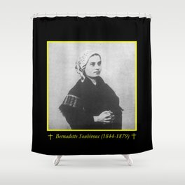 Billard Perrin - Portrait of Bernadette Soubirous Shower Curtain