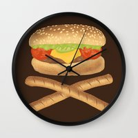 fat Wall Clocks featuring High Fat by Erik Sandi Satresa