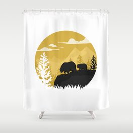 Bear Valley Shower Curtain