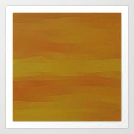 Golden Butternut Squash Art Print