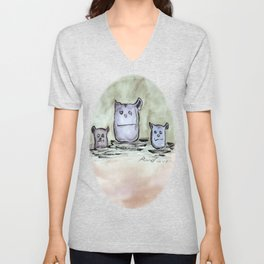Critter Council of Three Unisex V-Neck