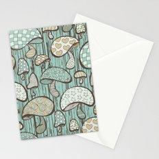 Wonderland Mushrooms - Blue Stationery Cards