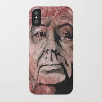 hitchcock iPhone & iPod Cases featuring Hitchcock by Colunga-Art