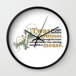 Christmas Mouse Wall Clock