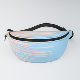 Carefree - Sweet Peach Coral Pink on Blue Raspberry Fanny Pack