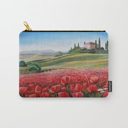 Italian Poppy Field Carry-All Pouch