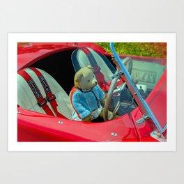 BEARY NICE CAR Art Print