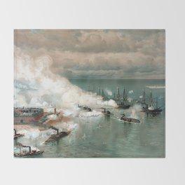 Battle Of Mobile Bay -- Civil War Throw Blanket