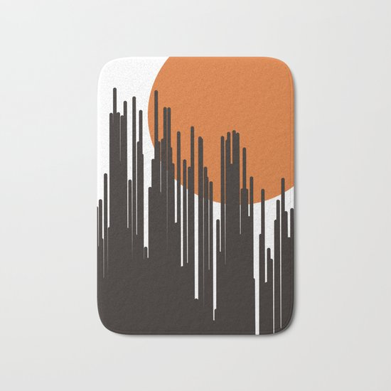 Sunset Skyline Bath Mat