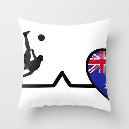 Heartbeat Soccer| Pulse Australia Love Throw Pillow