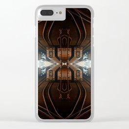 Quad Tracks #2 Clear iPhone Case