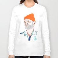 zissou Long Sleeve T-shirts featuring Doc Zissou by The Art Warriors