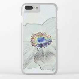 Malva Drawing Clear iPhone Case