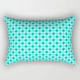 Gingham - Ocean Rectangular Pillow