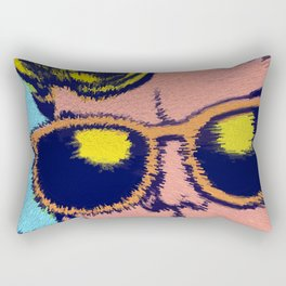 Pop Art Comics Man with sunglasses Rectangular Pillow