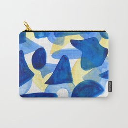 Layered Blues Carry-All Pouch