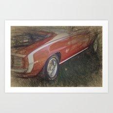 Camaro SS 350 Art Print