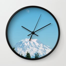 Snow Capped Mountain (Color) Wall Clock