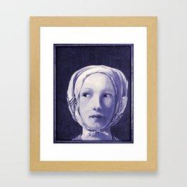 The Thief in Indigo Framed Art Print