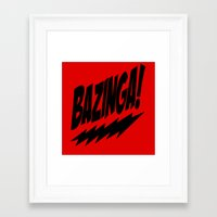 bazinga Framed Art Prints featuring bazinga by  Alexia Miles photography
