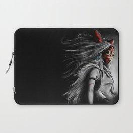 Miyazaki's Mononoke Hime Digital Painting the Wolf Princess Warrior Color Variation Laptop Sleeve