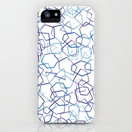 Blue Geometrics, Watercolour iPhone Case
