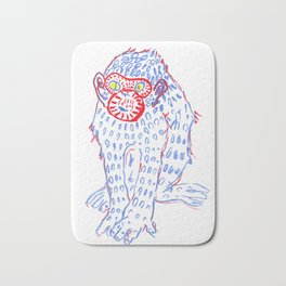 Blue monkey Bath Mat