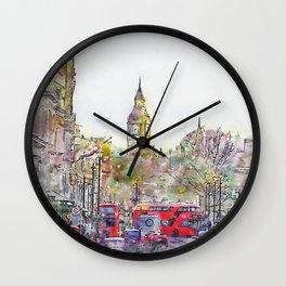 London Street 1 by Jennifer Berdy Wall Clock