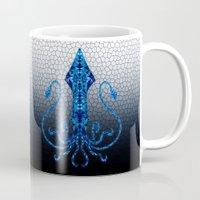 squid Mugs featuring Squid by Bahadır Tez