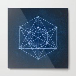 Sacred geometry / Minimal Hipster Symbol Art Metal Print