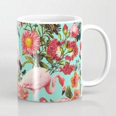 Floral and Flemingo IV Pattern Mug