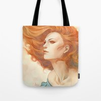 artgerm Tote Bags featuring Pepper Breeze New by Artgerm™