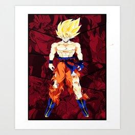Goku vs Broly Dragon Ball Kunstdrucke