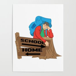 School or home Poster