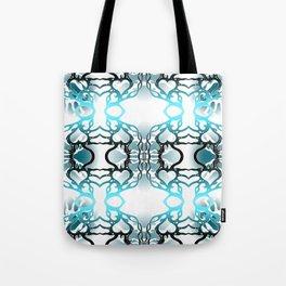 Electric blue heart swirl Tote Bag