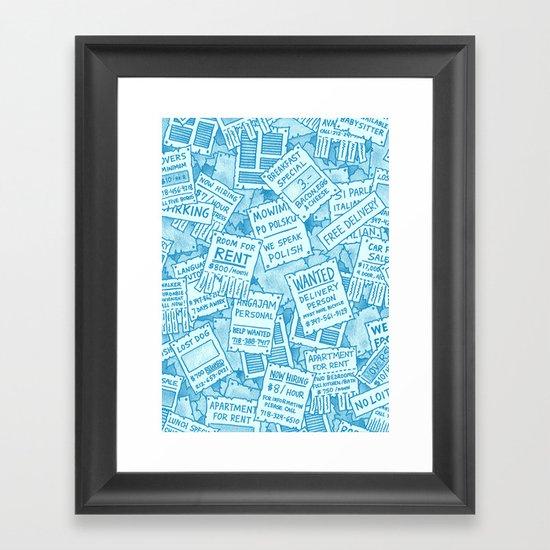 Flyers Framed Art Print