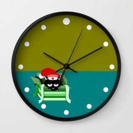Naughty Cat Surprise Wall Clock