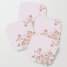 FRENCH PALE ROSES Coaster