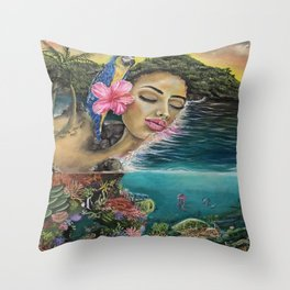 Island Dreaming Throw Pillow