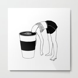 Coffee, First Metal Print