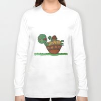 turtles Long Sleeve T-shirts featuring Turtles by BNK Design