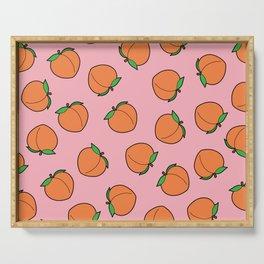 Peach Pattern Serving Tray