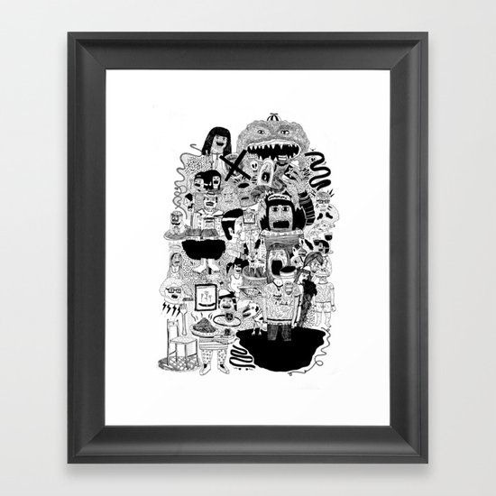 KIDS DOOM Framed Art Print